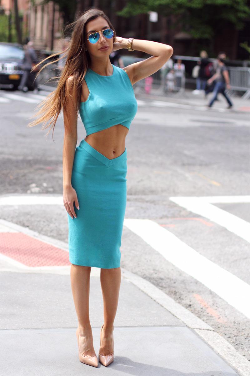 Azerbaijani fashion blogger Ulia Ali
