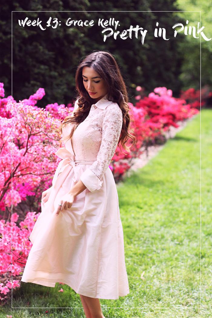 Eliza J dress. NYC designer. Gorgeous pink lace dress worn by Ulia Ali