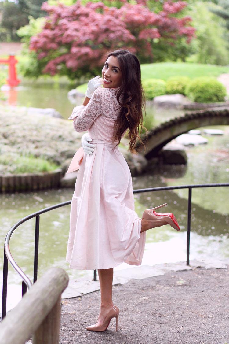 Ulia Ali in Pink Eliza J dress