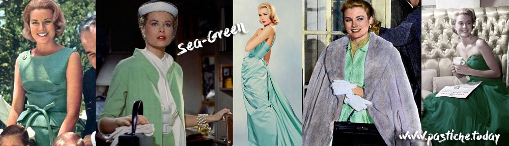 Grace Kelly wearing her favorite color - sea-green.