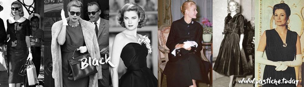 Grace Kelly in elegant black.