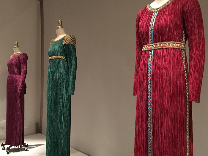 Medieval style dresses at the Met museum