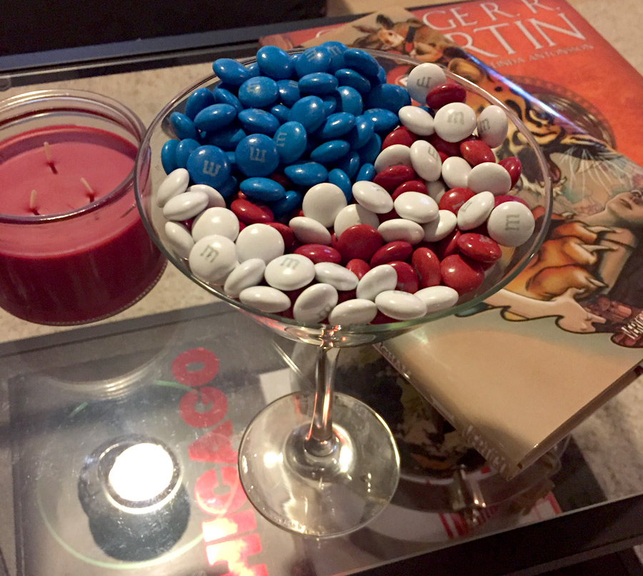 4th of July decor. Candies