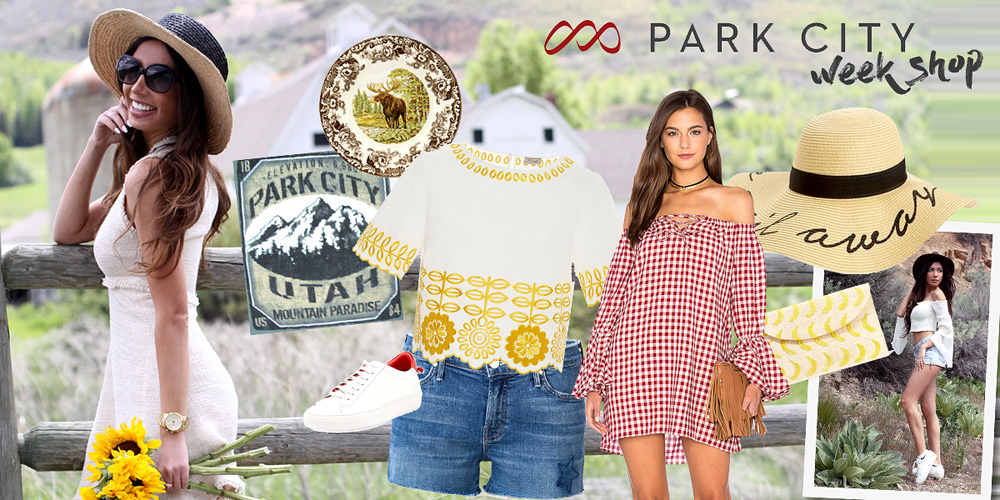 Park City Shop. Souvenirs and outfits. Utah Adventures.