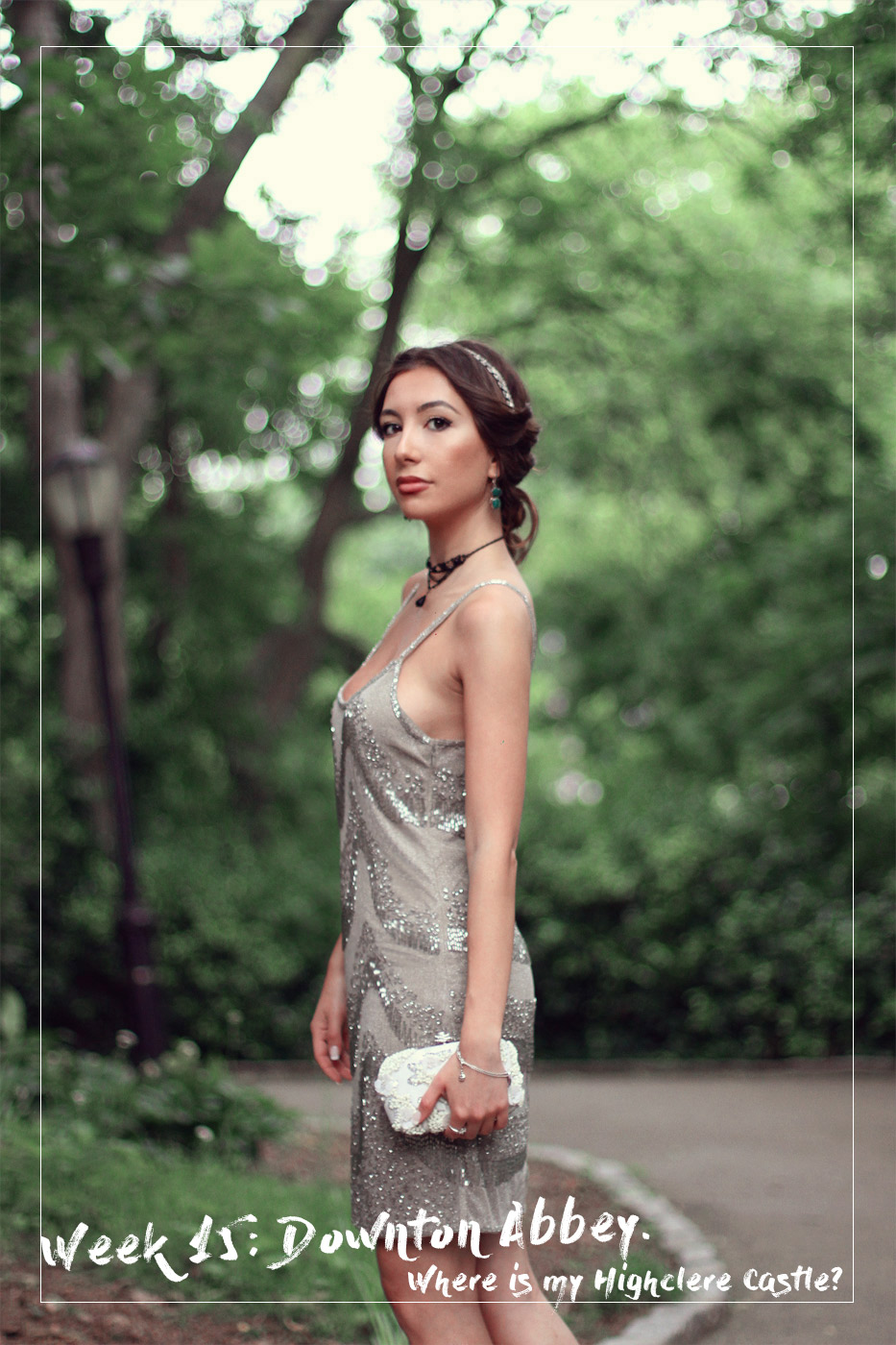 Blog of Ulia Ali. Pastiche of 20s Downton Abbey looks.