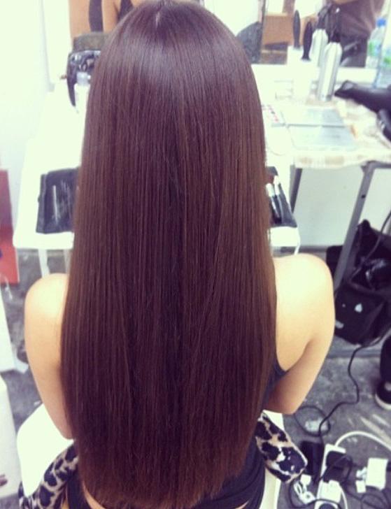 Sleek shiny hair