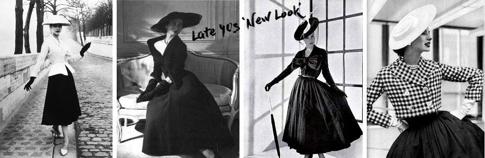 Dior's 'New Look' in late 40s. Pastiche blog