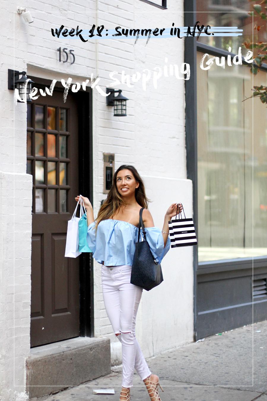 New York City Shopping Guide by blogger Ulia Ali. Шопинг гид по Нью-Йорку от блогерши.