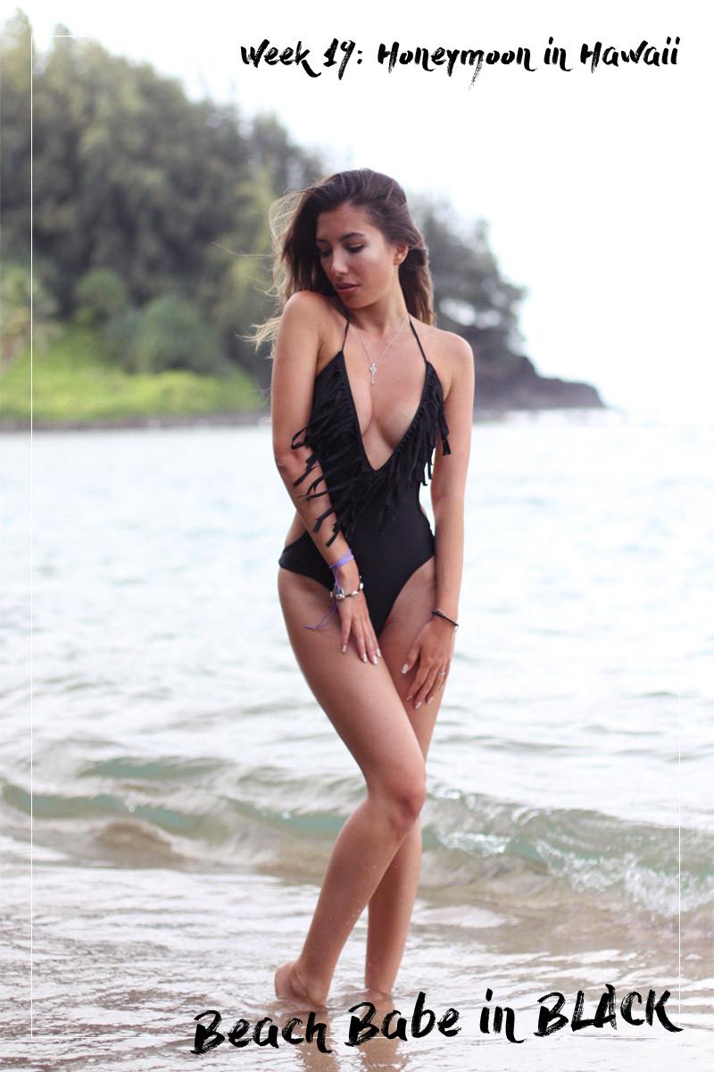Shein Black Fringe swimsuit