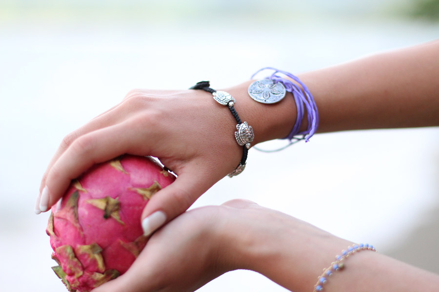 Dragon fruit, beach accessories