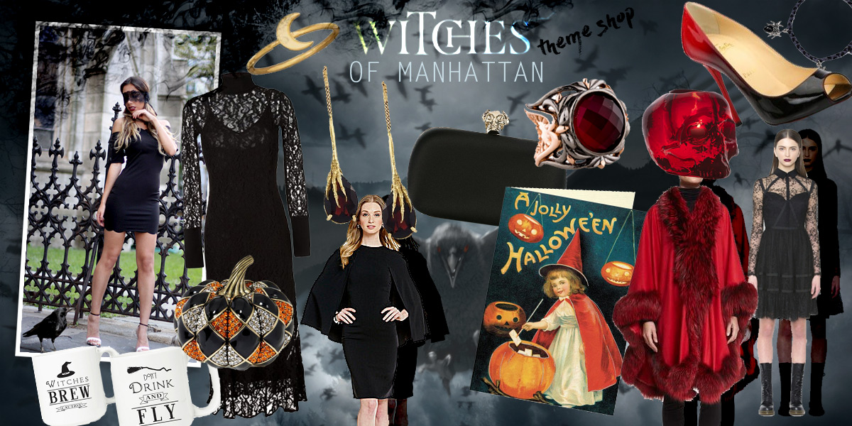 Witches of Manhattan curated shop. Gifts and fashion items for Halloween 2016 and Christmas.