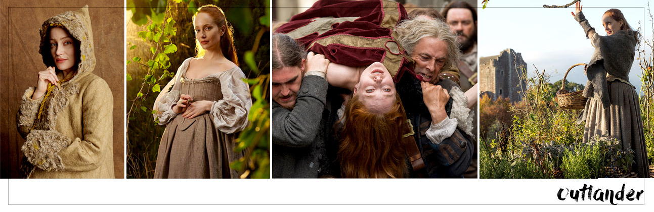 Best witches on the screen - Geillis Duncan from Outlander. Red haired witch.