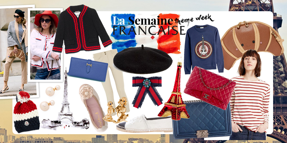 French Themed shop by Ulia Ali. Curated selection of fashion items.