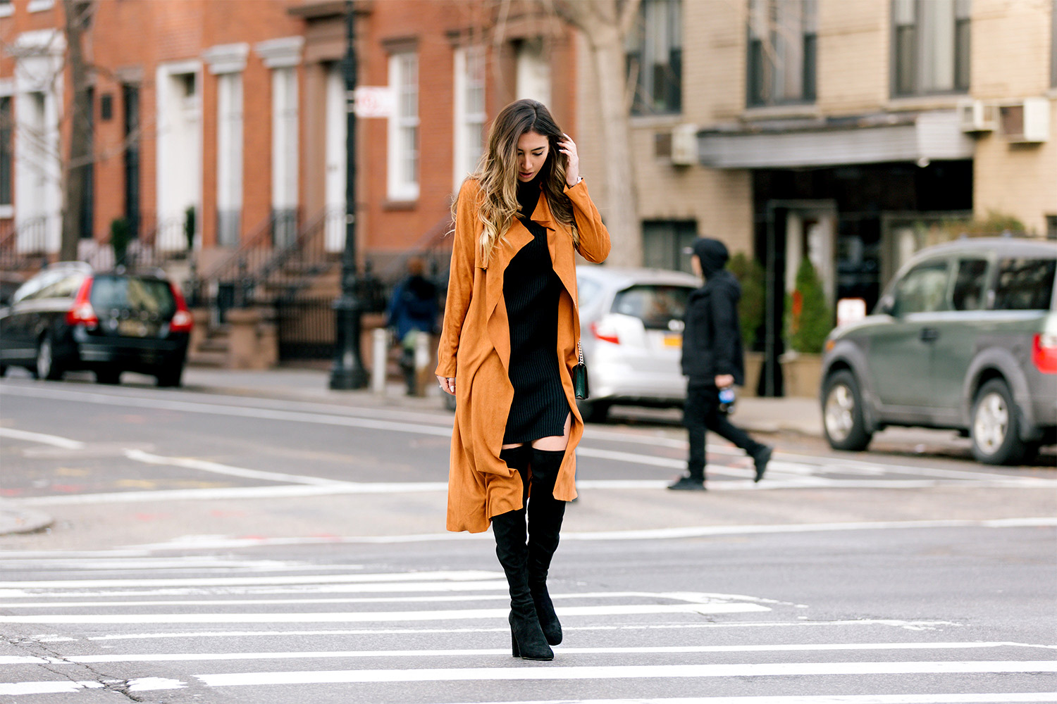 Fashion blogger Ulia Ali in Soho, New York. True Manhattan girl.