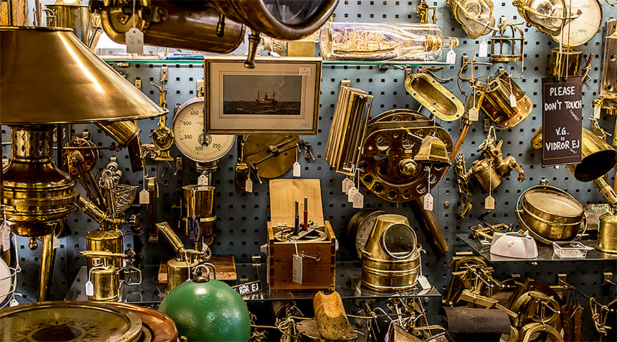 Nautical store in Gamla Stan, Stockholm. Best maritime antique store in Europe.