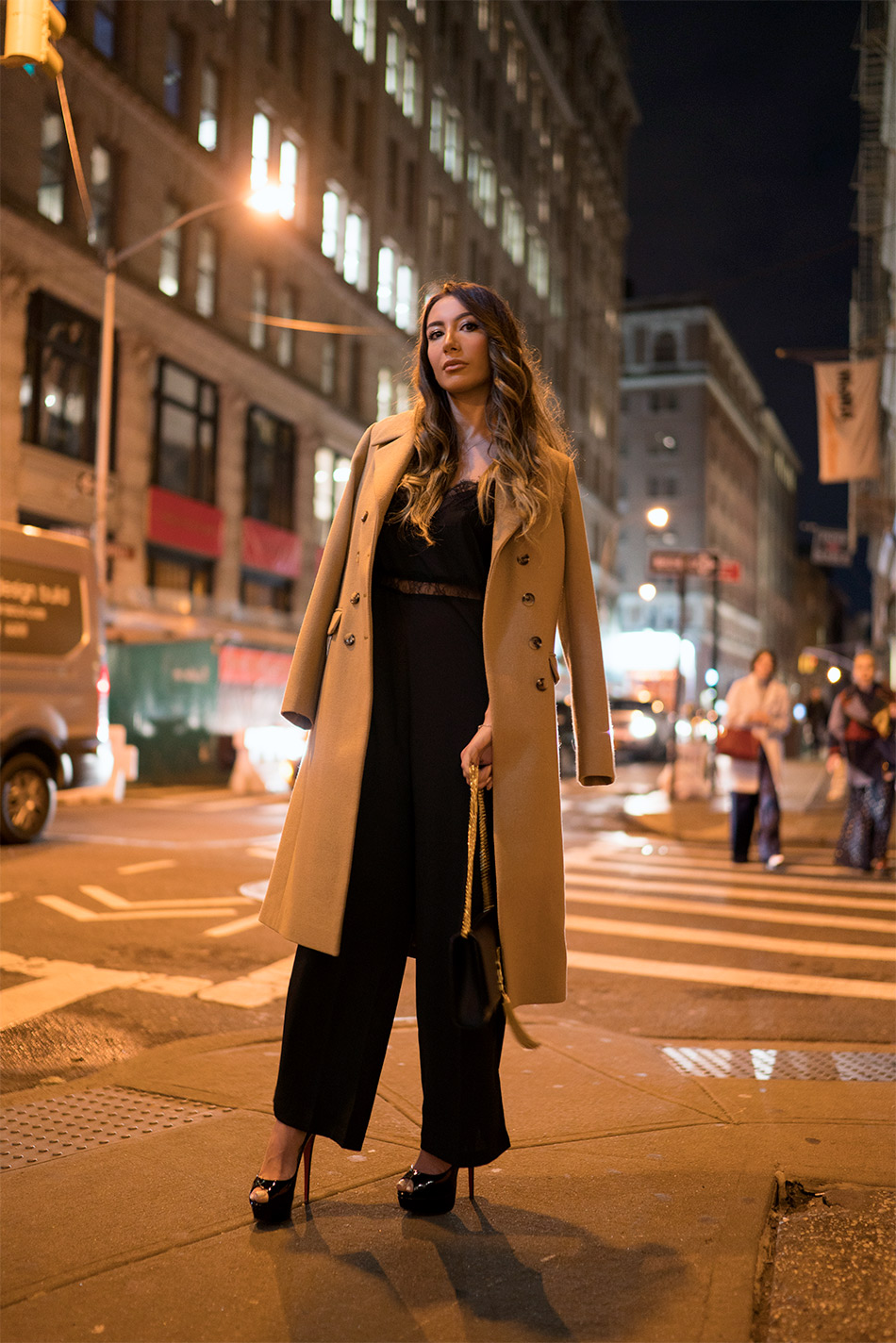 Soho at night. NYFW look by Ulia Ali.