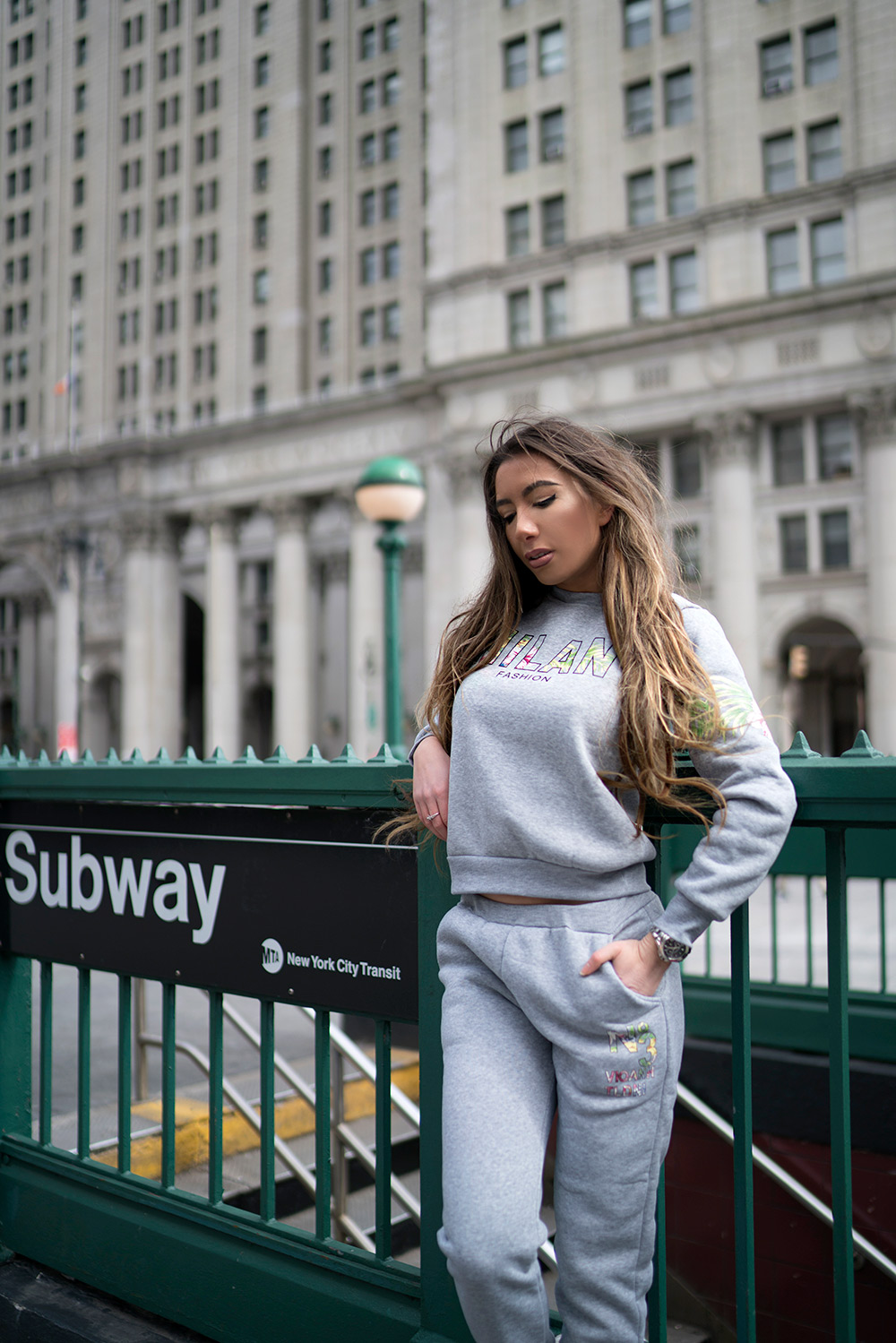 Subway NYC photoshoot, DressLink Review, The most comfortable sweatpants