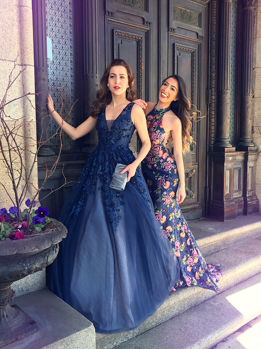 Jovani gown blue embroidered blogger prom 2017