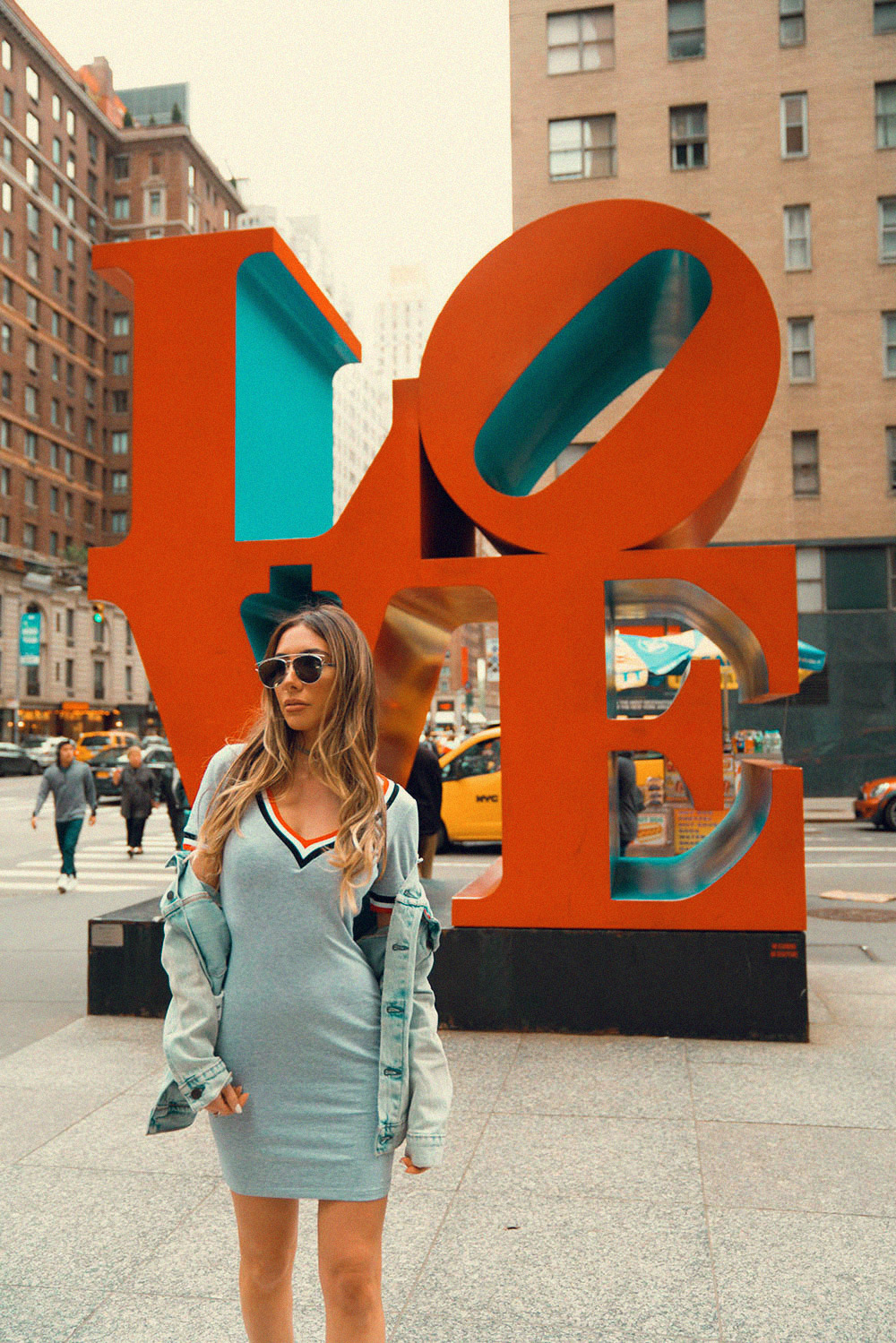 Love Sculpture in New York City. Summer 2017