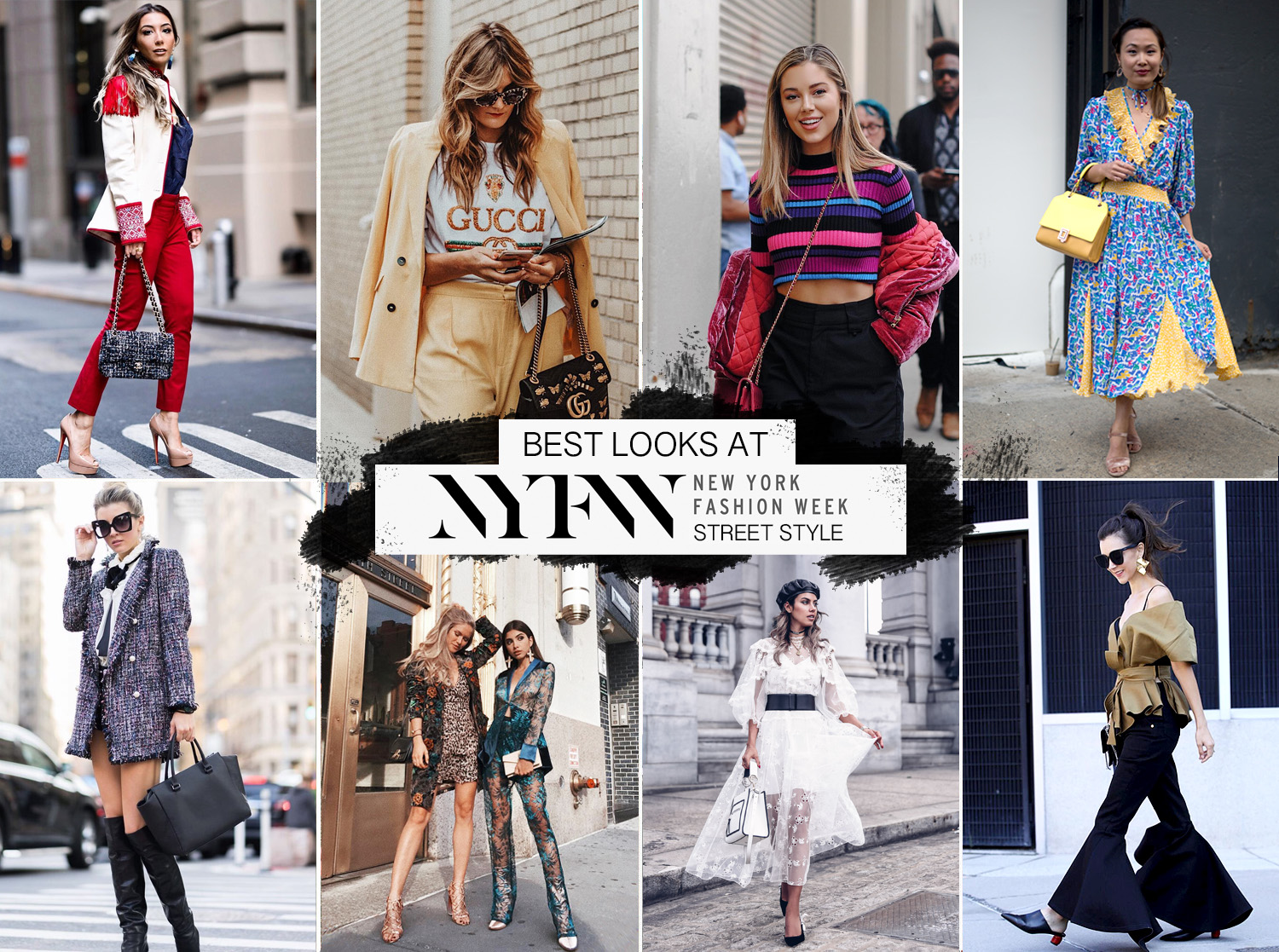 NYFW bloggers streetstyle best looks SS 2018, September 2017. Influencers style during New York Fashion Week.