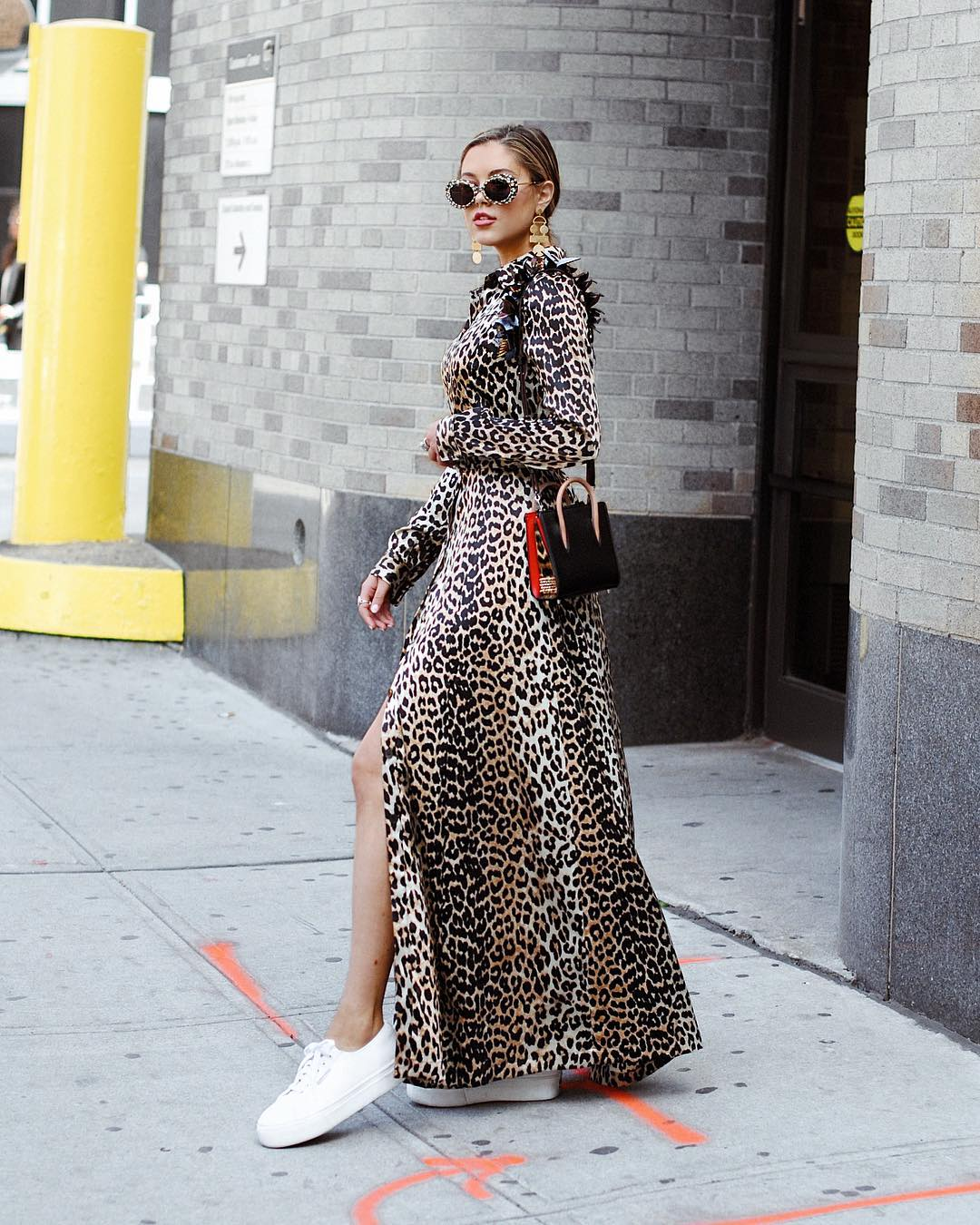 Jourdan 's looks were hard to miss on the streets of New York during this Fashion Week.