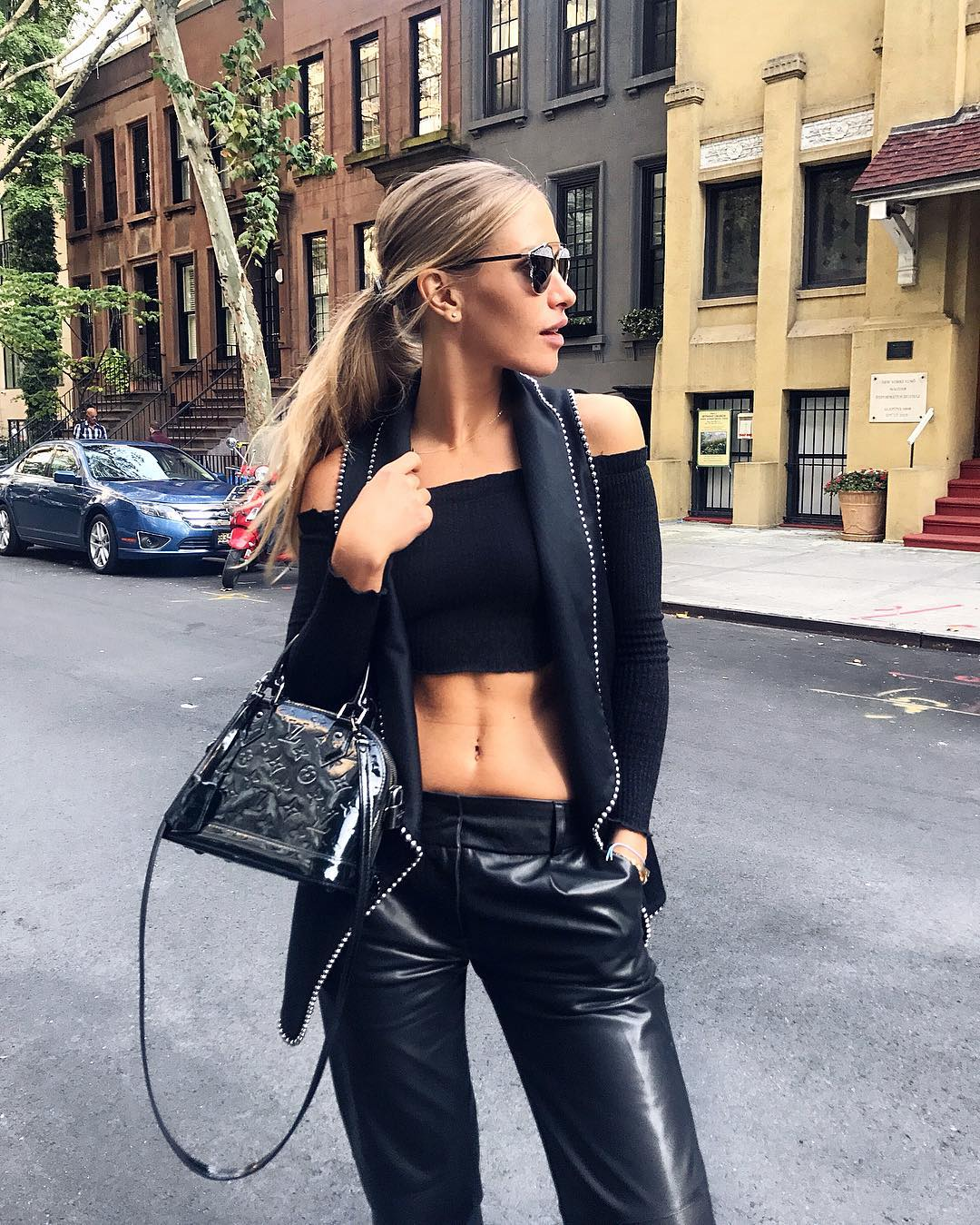 Another one of  Maja Malnar  because we think she looked stunning in this all black look!