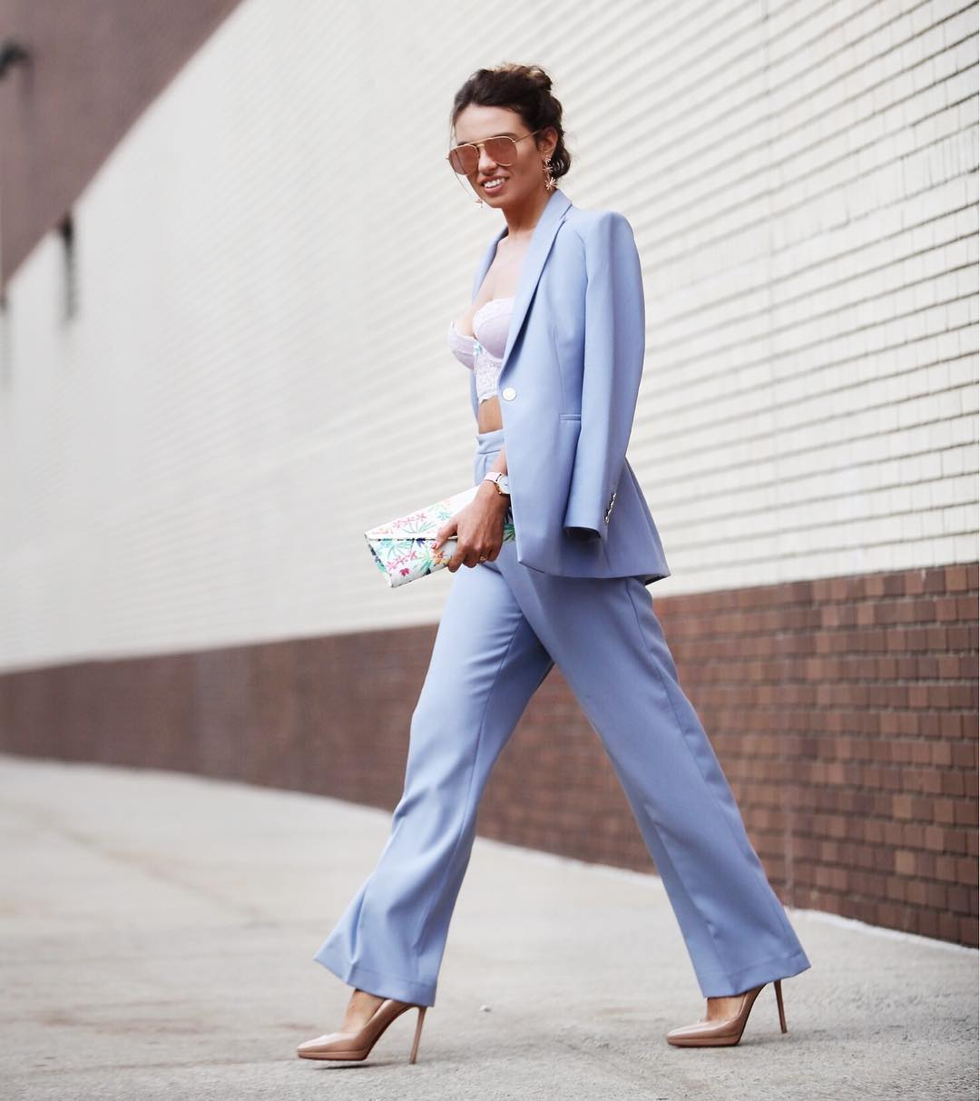 Pastel perfection on Nathalie from  @nata_allbuenothings  during NYFW.