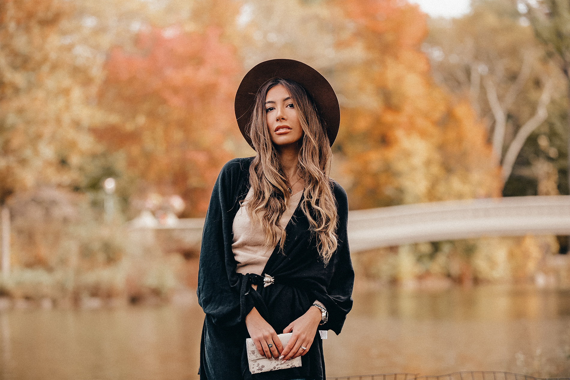 MerSea Luxe Collection. Ulia Ali blogger. Fall Inspiration photoshoot in Central Park, New York,