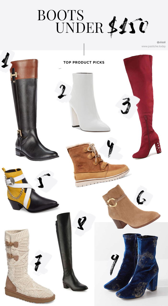 Best boots deals. Over the knee boots under 150 dollars.