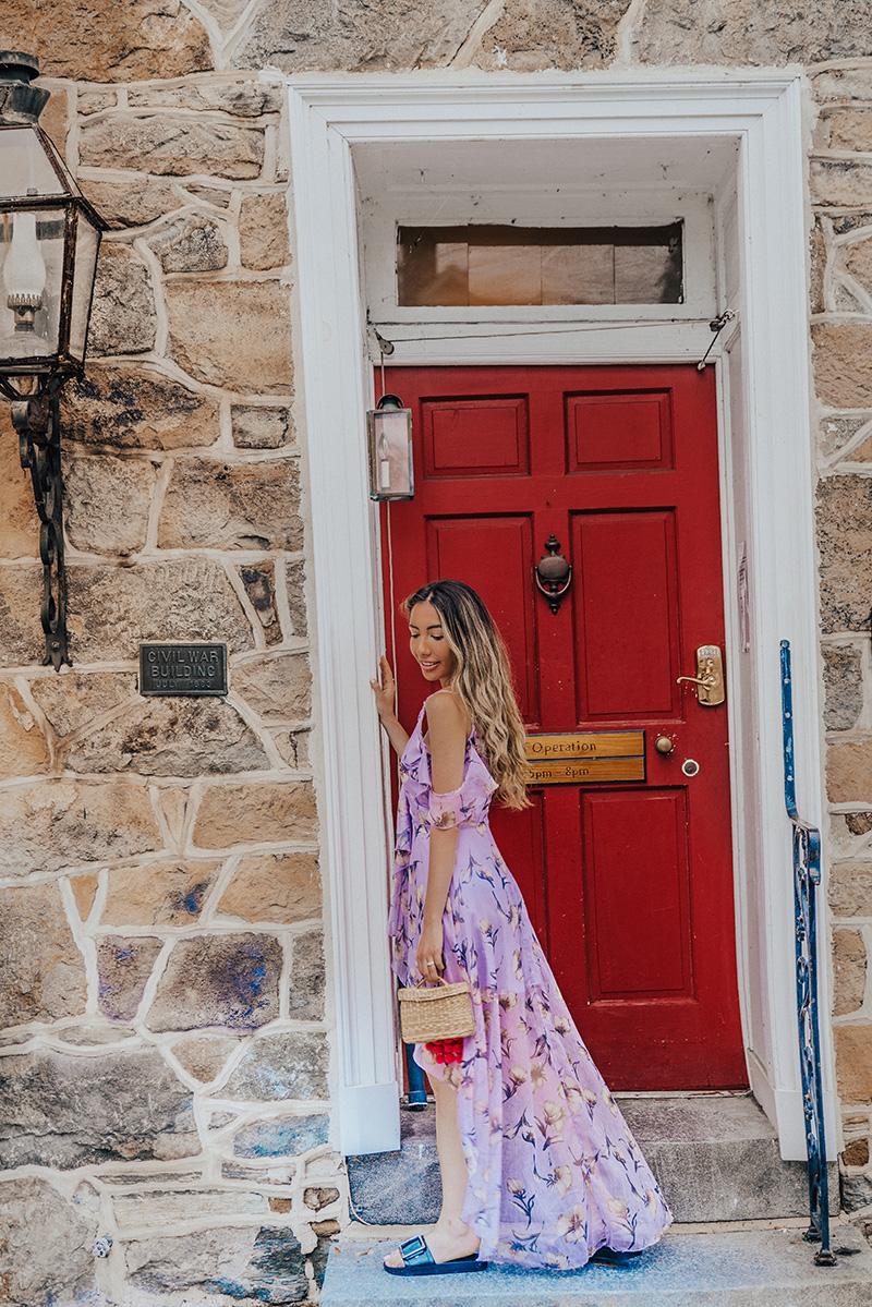 Red door Fairfield Inn in Gettysburg