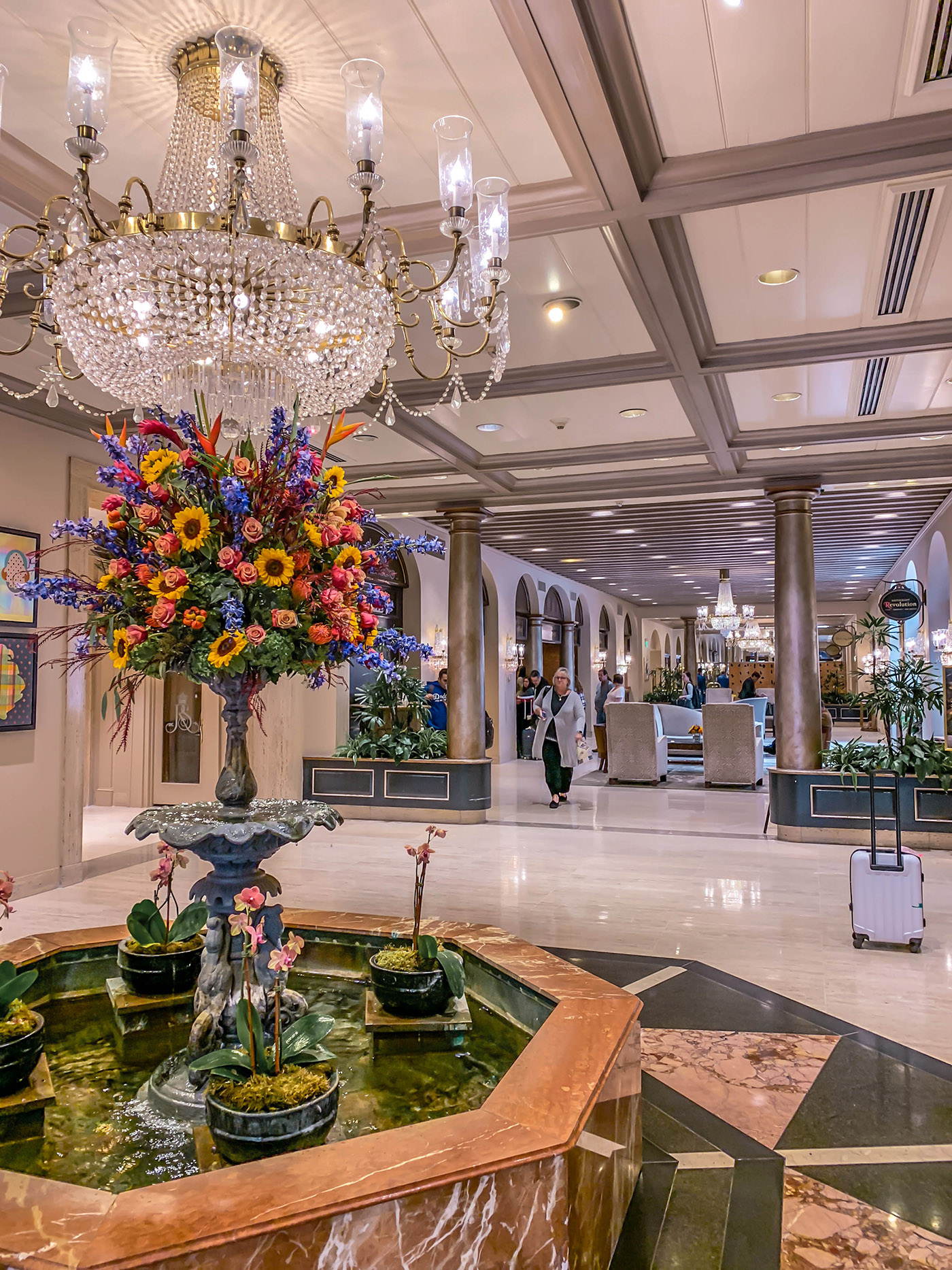 Royal Sonesta Grand Lobby Reception area. New Orleans visit review