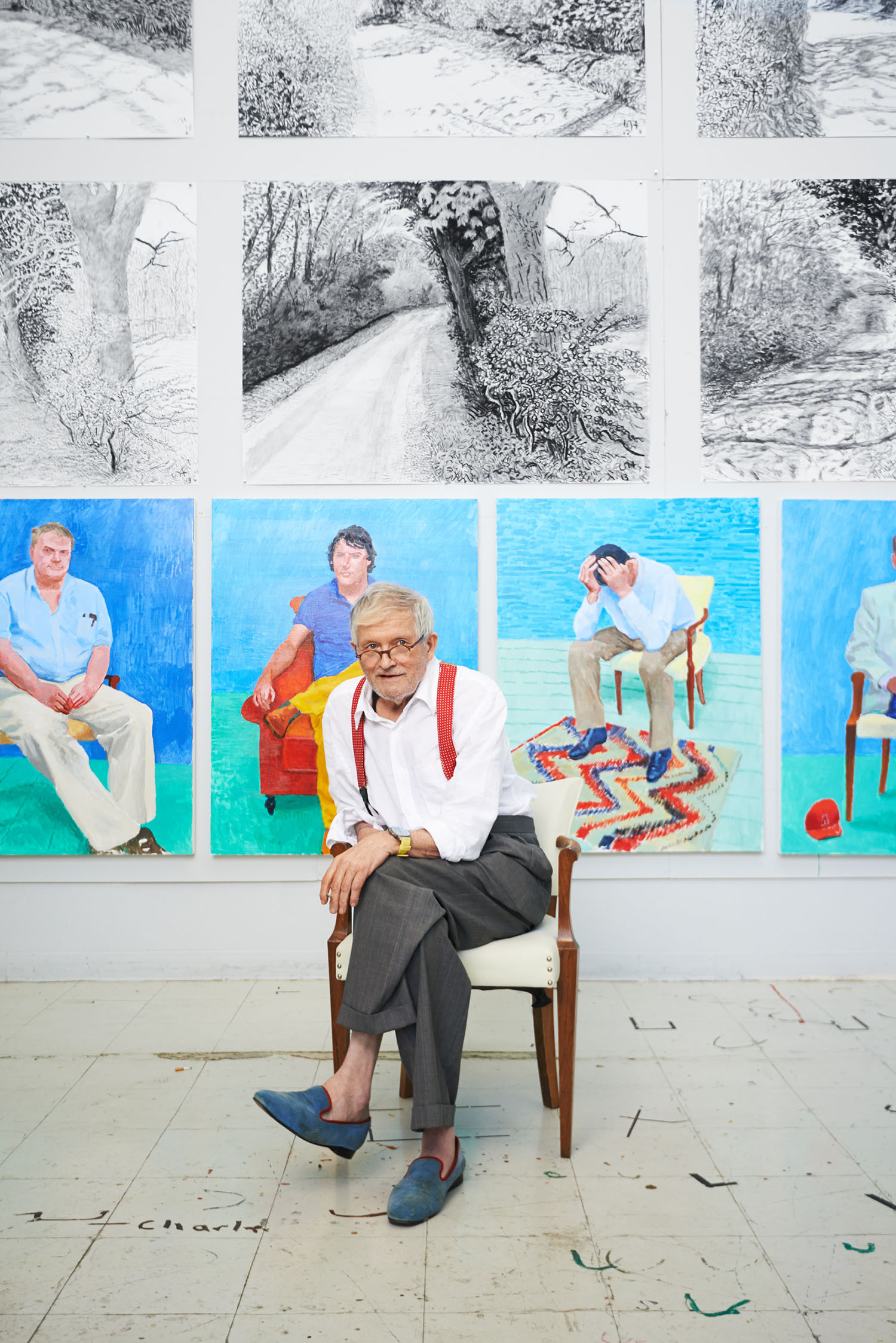 David Hockney, Artist, Los Angeles, California, 2013