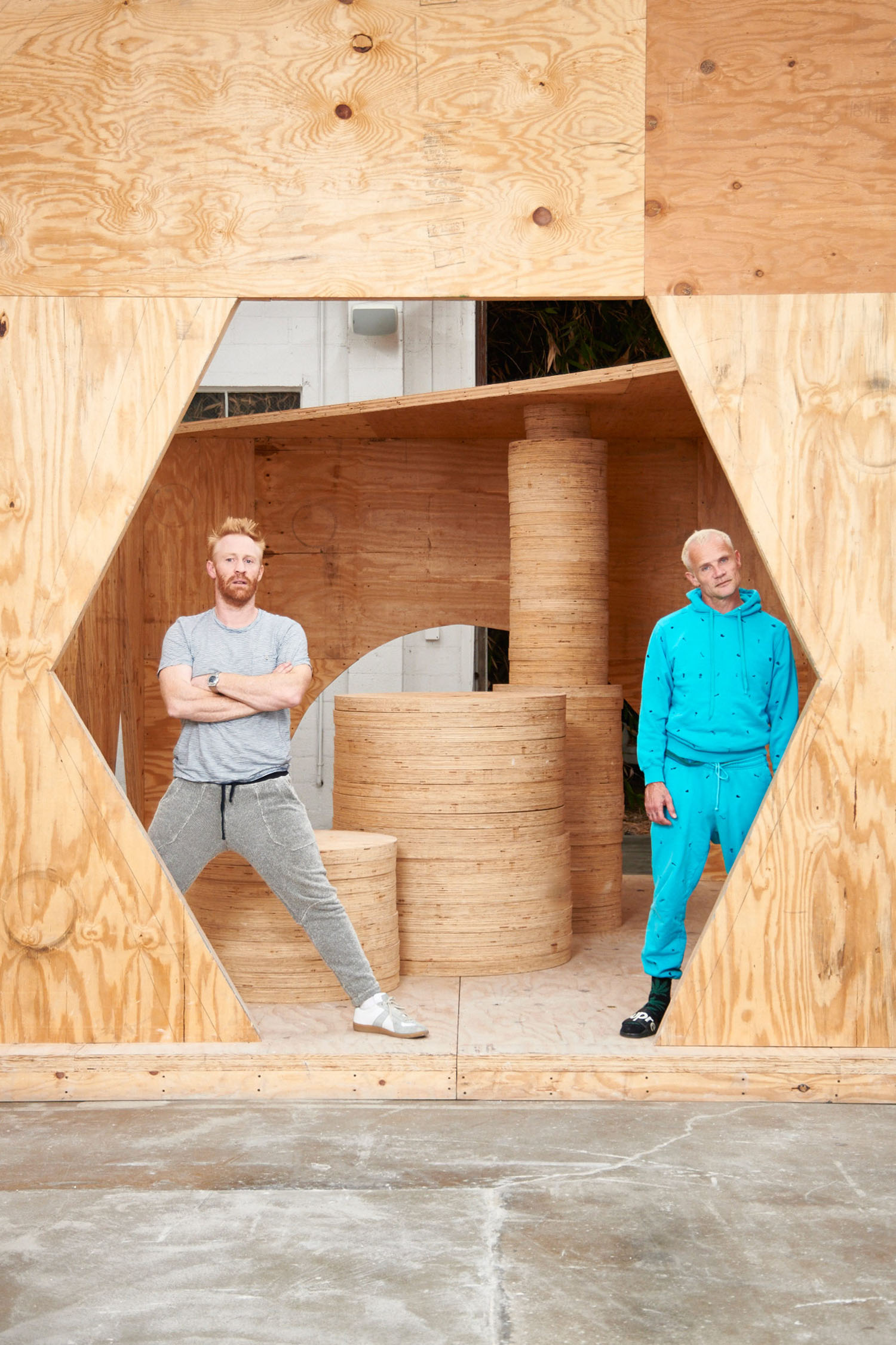 Thomas Houseago, Artist & Flea, Musician, Los Angeles, California, 2014