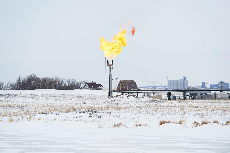Natural Gas Flaring, Stanley, North Dakota, 2014