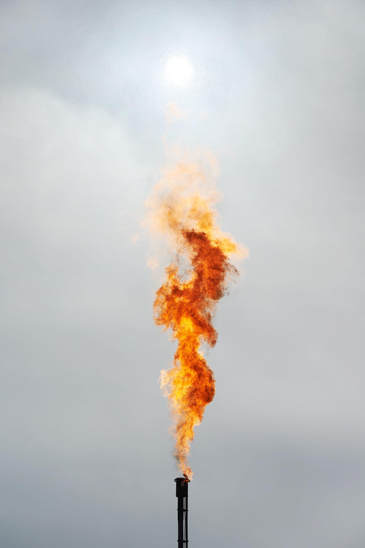 Natural Gas Flaring, Watford City, North Dakota, 2014