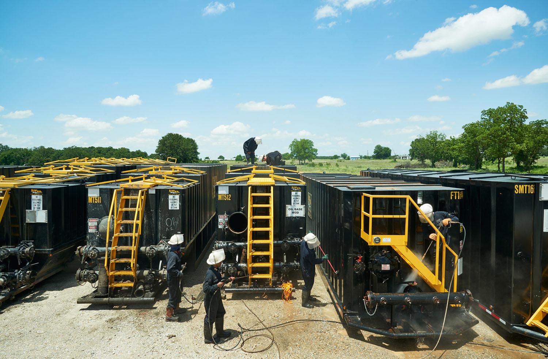 Fracking Tanks, Outside of Oklahoma City, Oklahoma, 2015