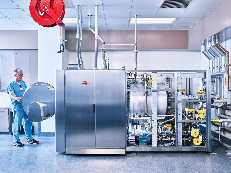 The Resomator, Alkaline Hydrolysis Machine, UCLA, Los Angeles, California, 2017