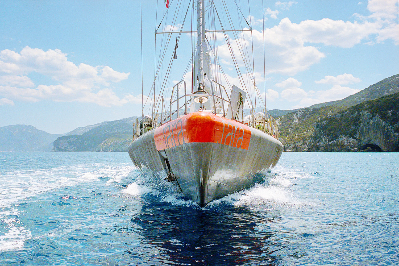 Tara, Scientific Research Vessel Studying Plastic Pollution, Mediterranean Sea, 2014