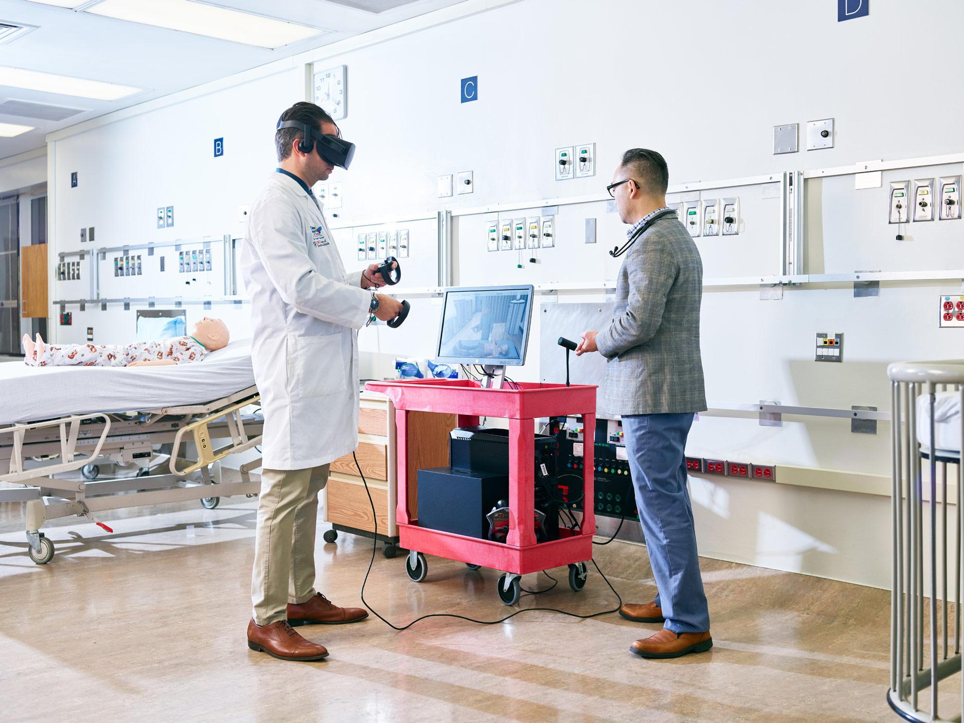 VR Simulation Training, Children's Hospital, Los Angeles, California, 2018
