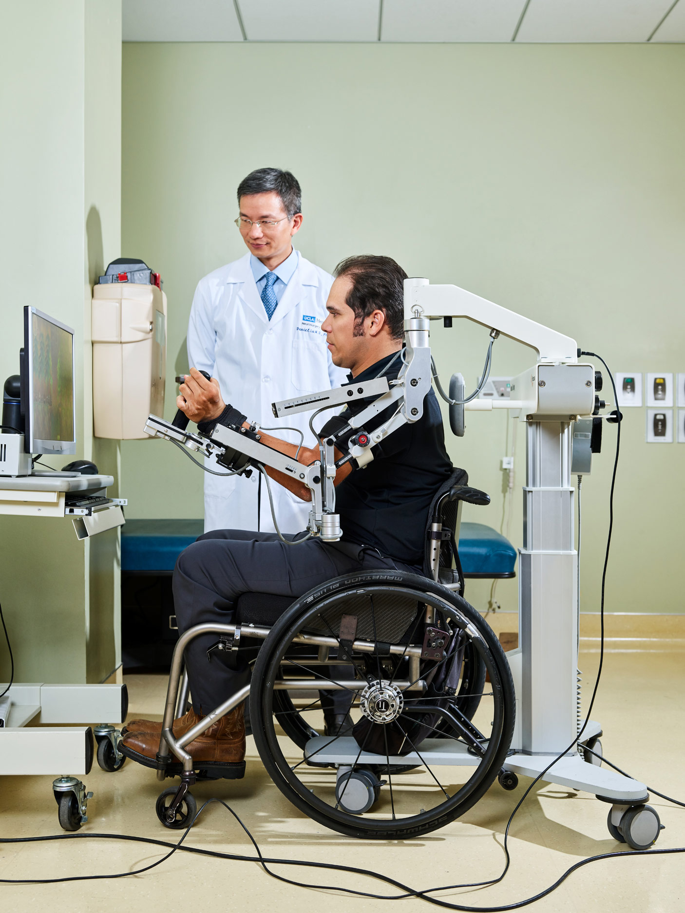 Patient Treatment at UCLA's Neuroplasticity and Repair Laboratory, Los Angeles, California, 2018