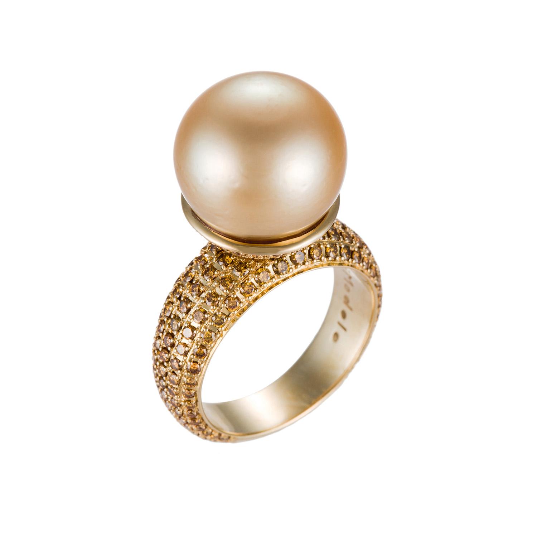 Di Modolo pearl and gold ring