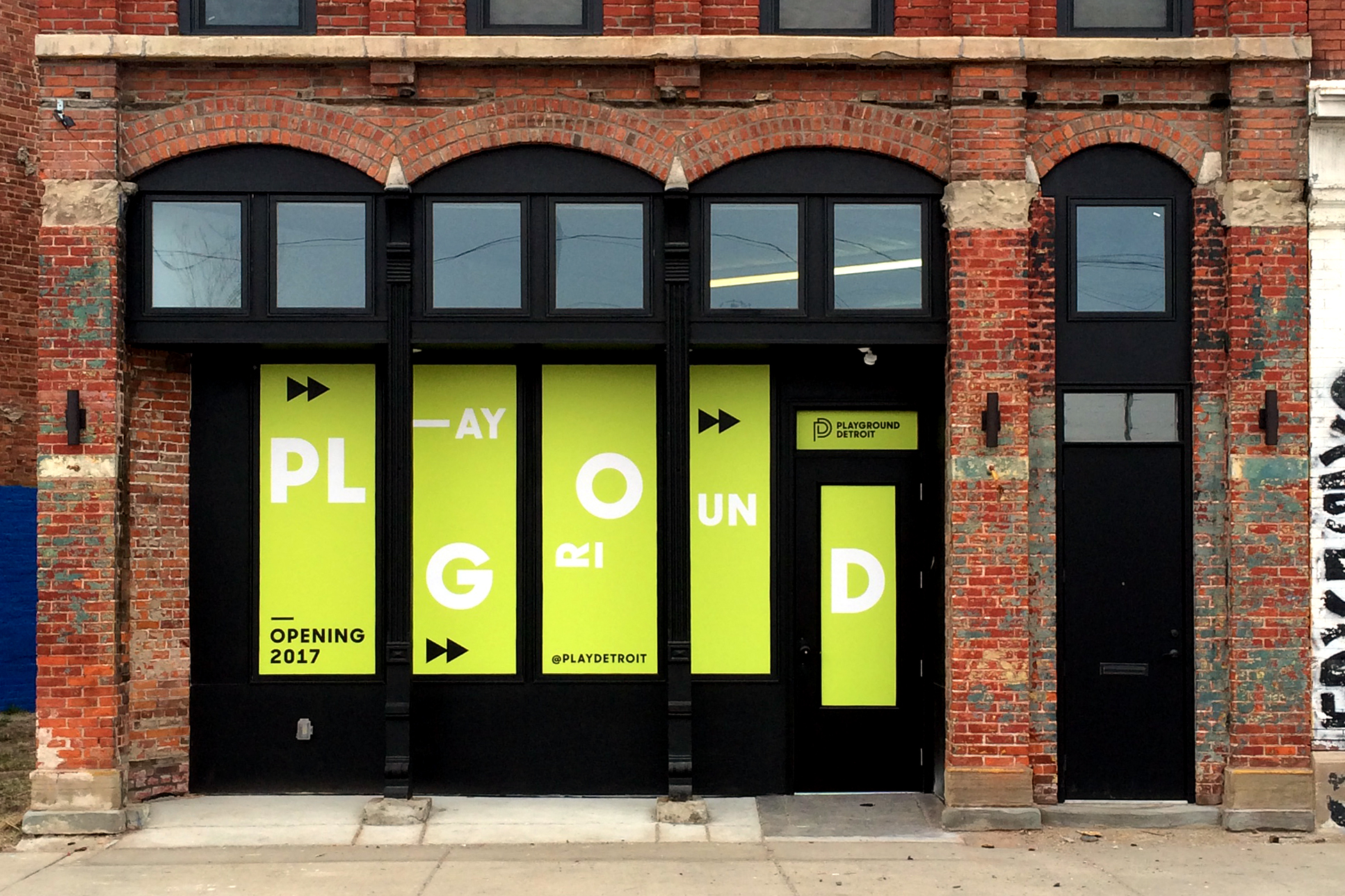 PLAYGROUND DETROIT - Window Graphics - Detroit, MI