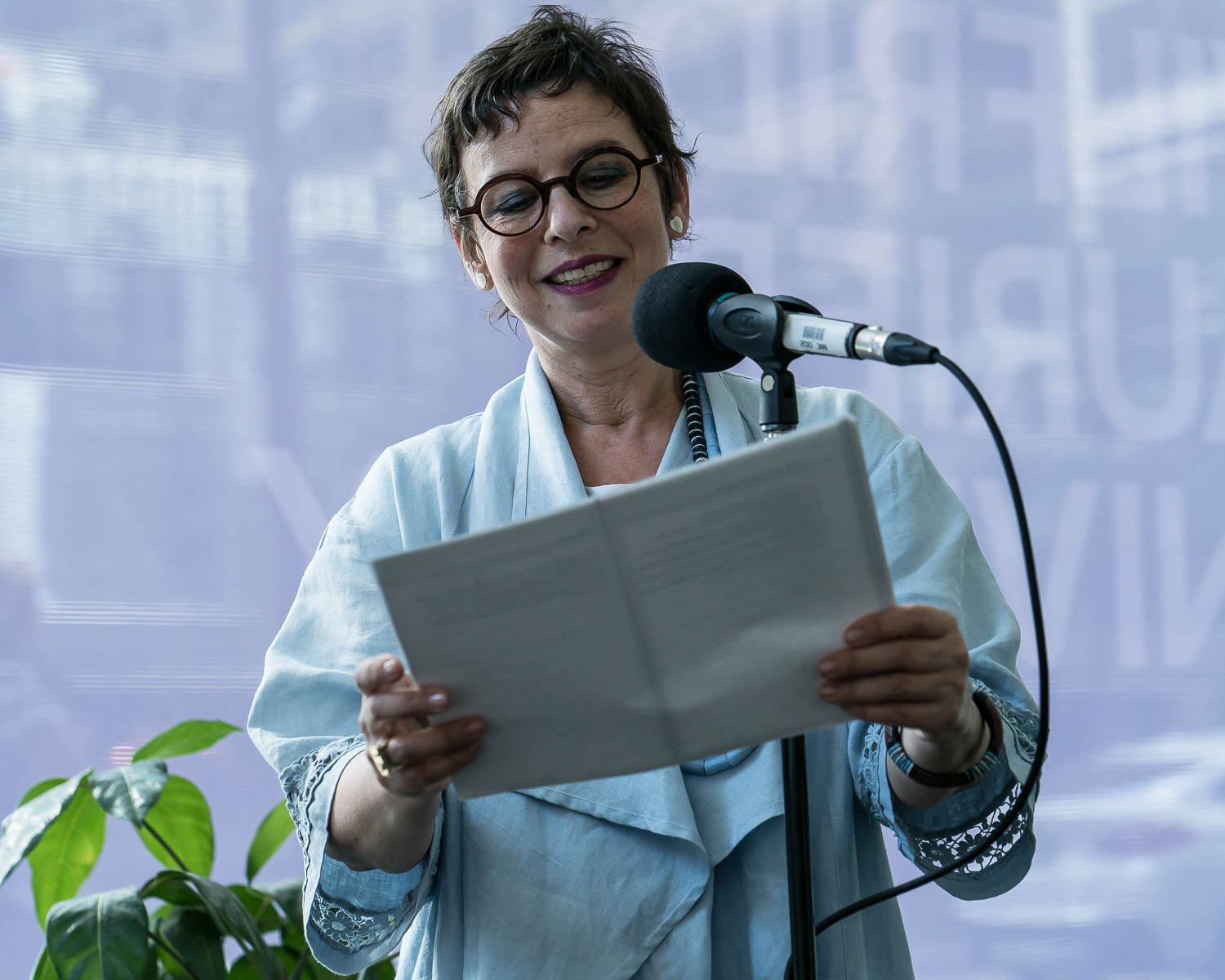 Beatriz Hausner reading from her translations of the Chileno surrealist poets of Mandragora