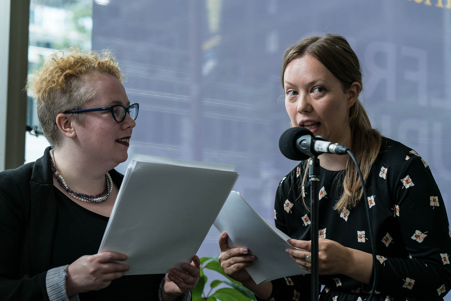 Vappu Kannas and Shannon Maguire reading from their Finnish/English collaboration, As An Eel Through the Body