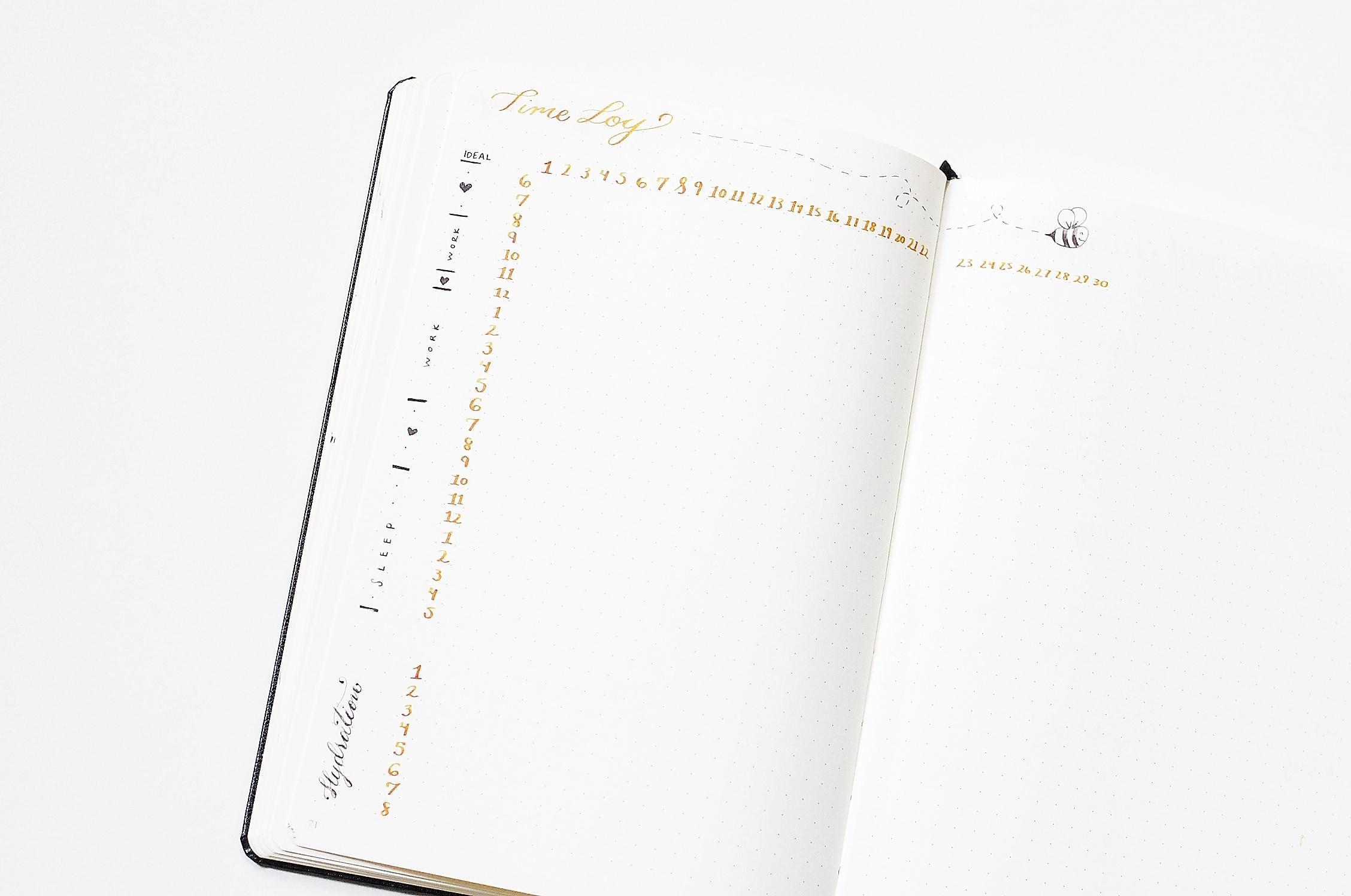 time log - bullet journal