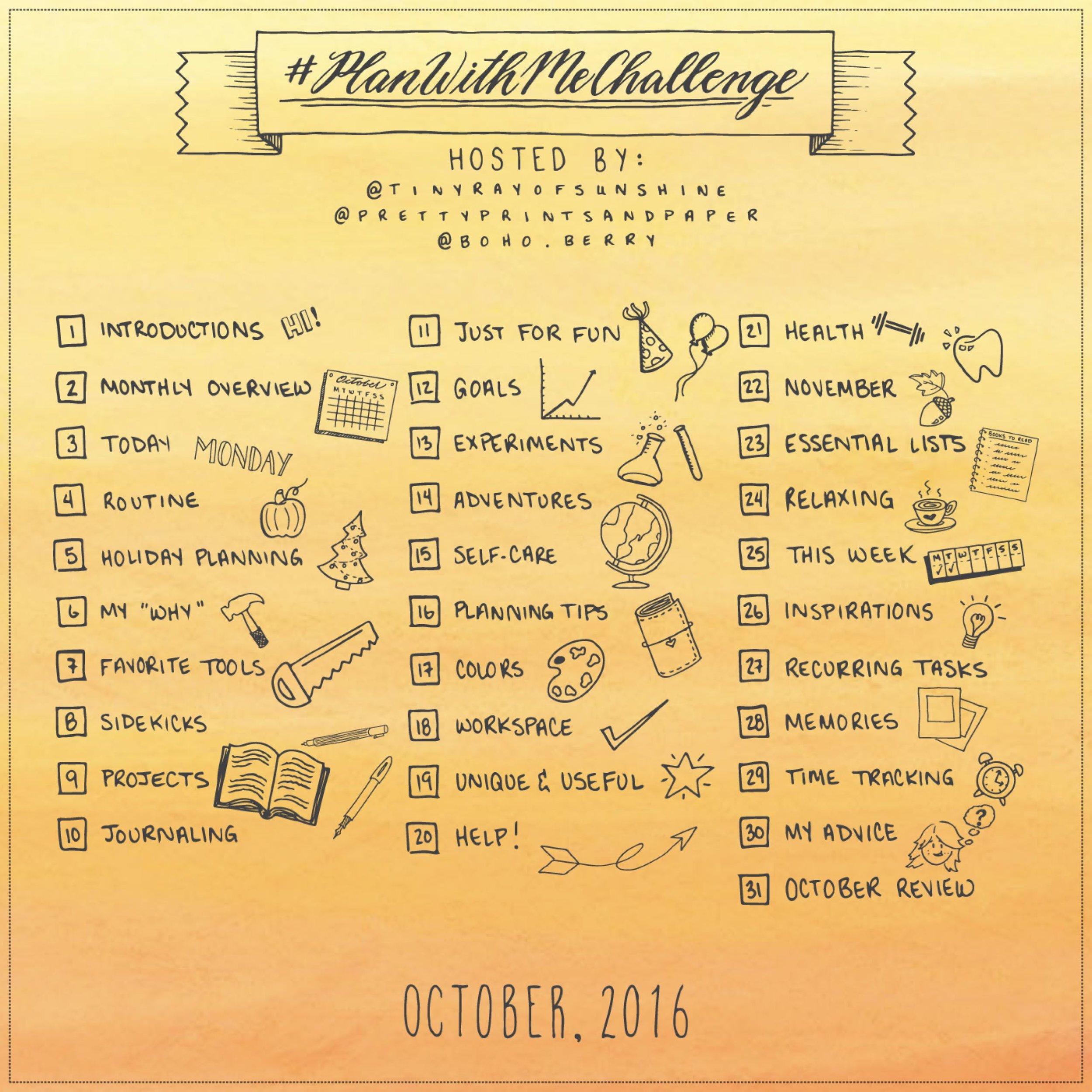 #PlanWithMeChallenge October