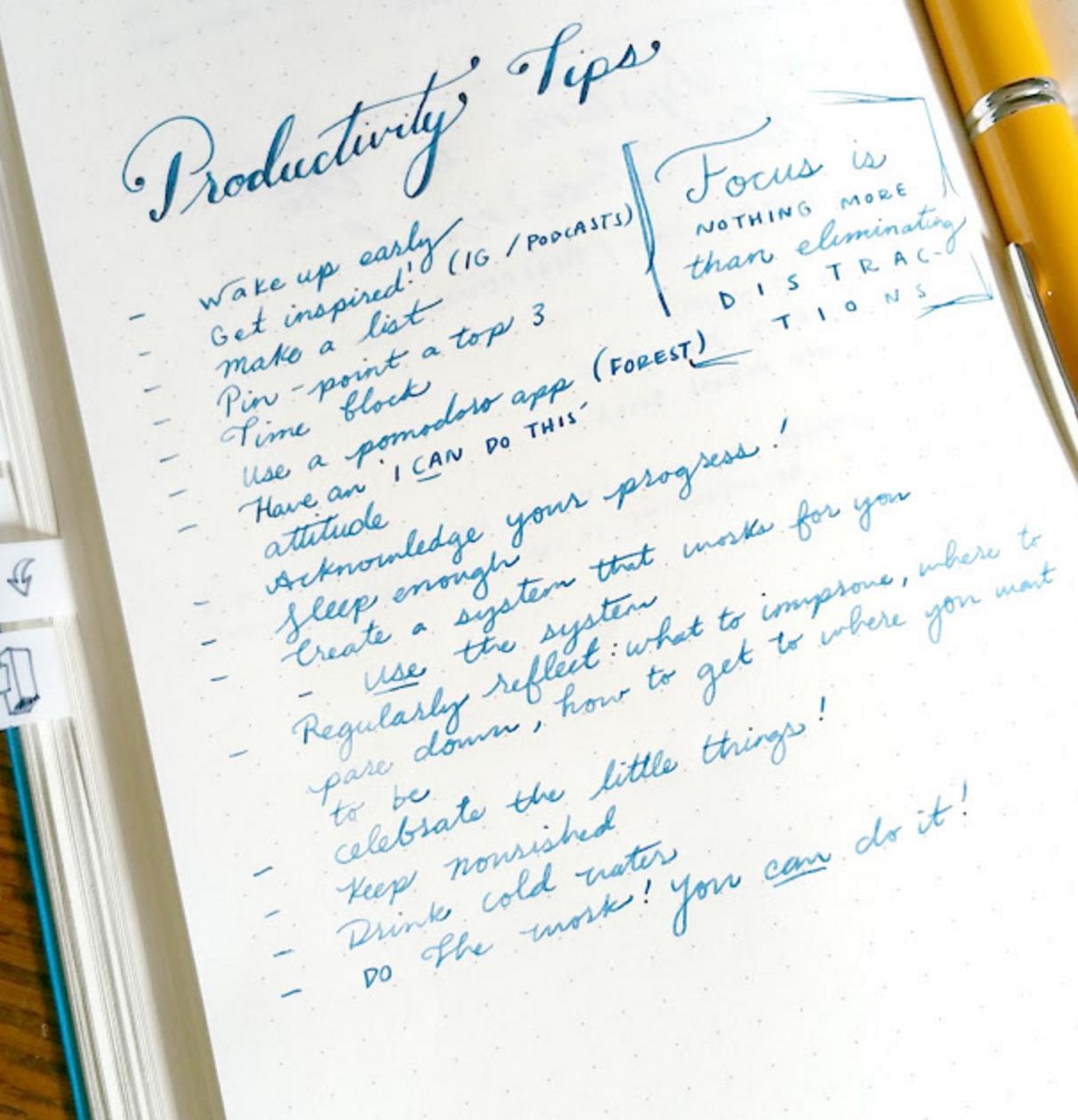 p roductivity tips