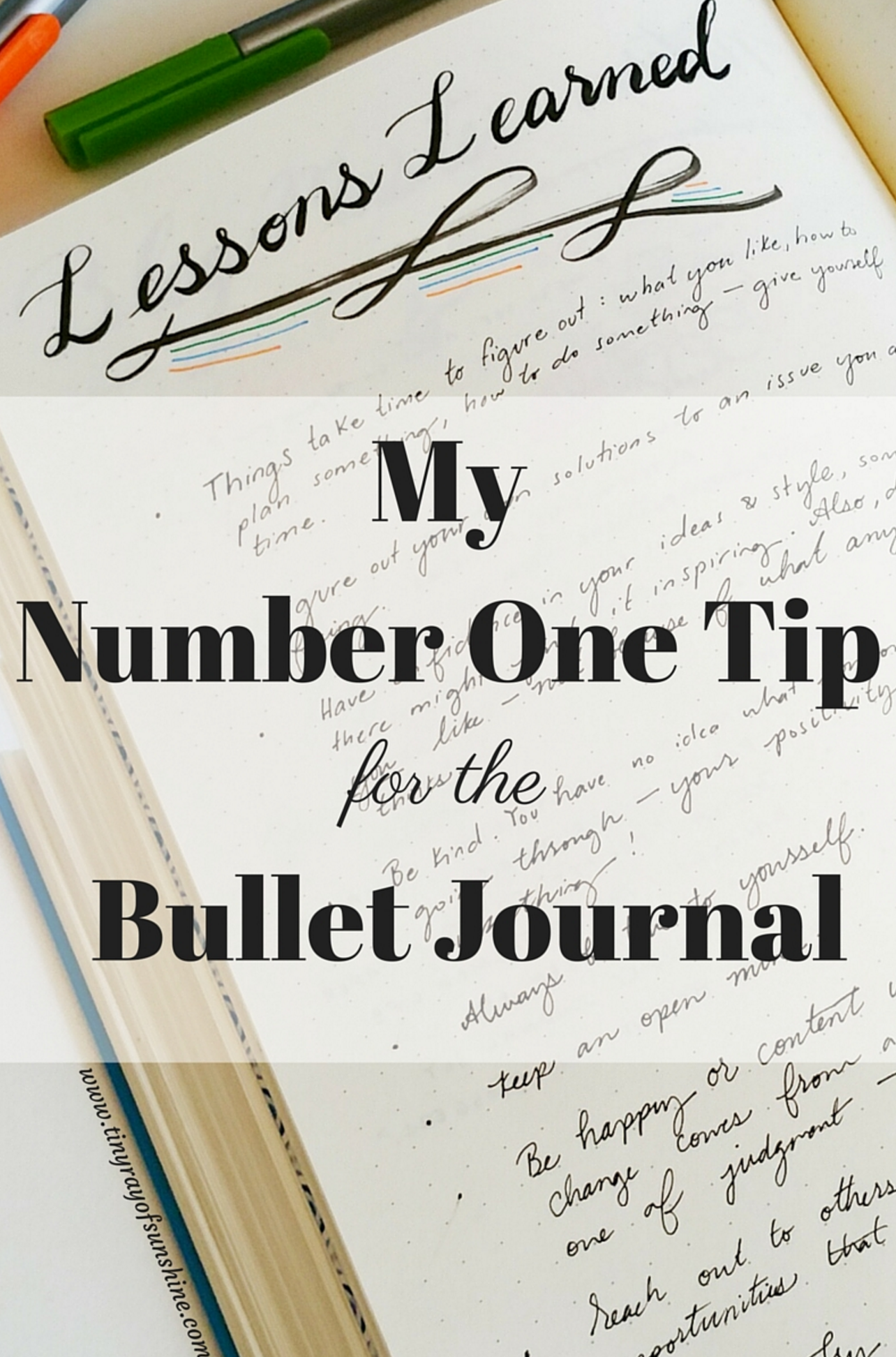 m y number one tip for the bullet journal