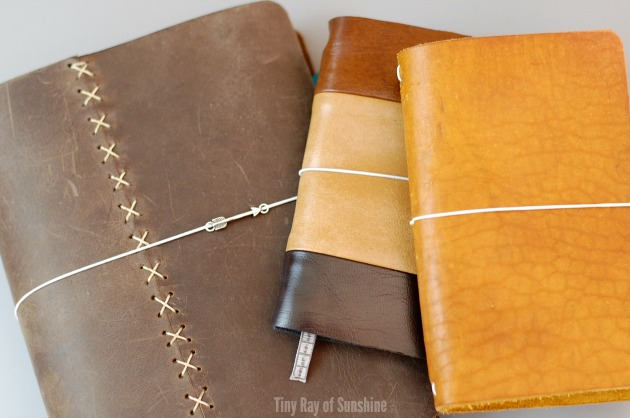 Tiny Ray of Sunshine. Kickstart your year with the Bullet Journal. Day 2 Let's start with Journals. Pic leather.jpg