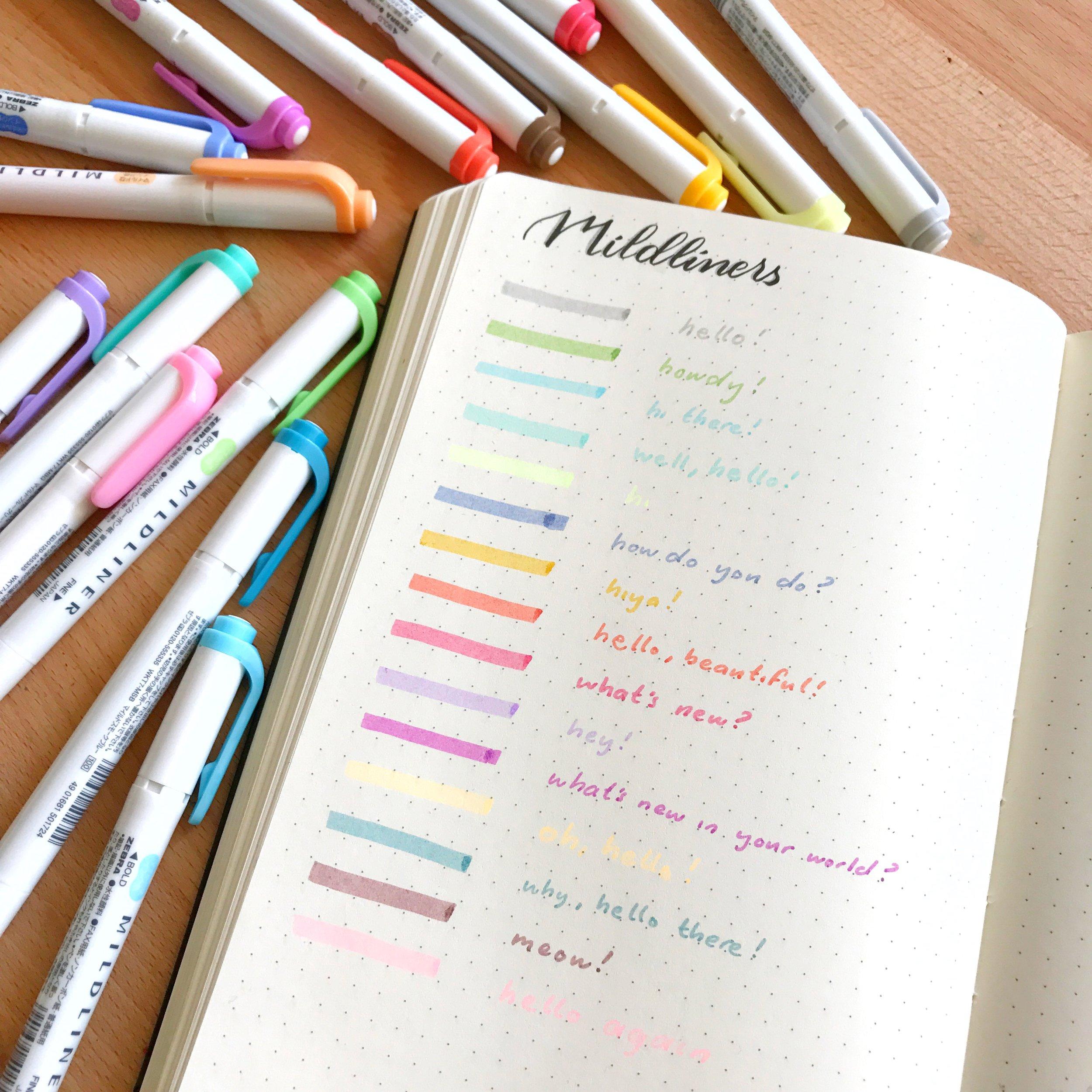 Pen test for your Bullet Journal
